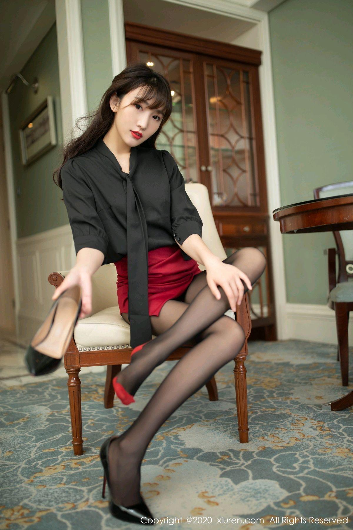 [XiuRen] Vol.2498 Lu Xuan Xuan 27P, Black Silk, Lu Xuan Xuan, Tall, Underwear, Xiuren