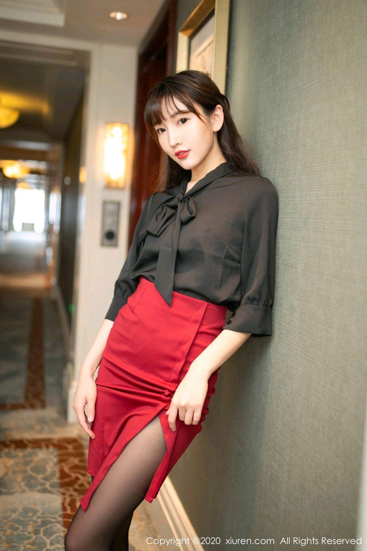[XiuRen] Vol.2498 Lu Xuan Xuan 3P, Black Silk, Lu Xuan Xuan, Tall, Underwear, Xiuren