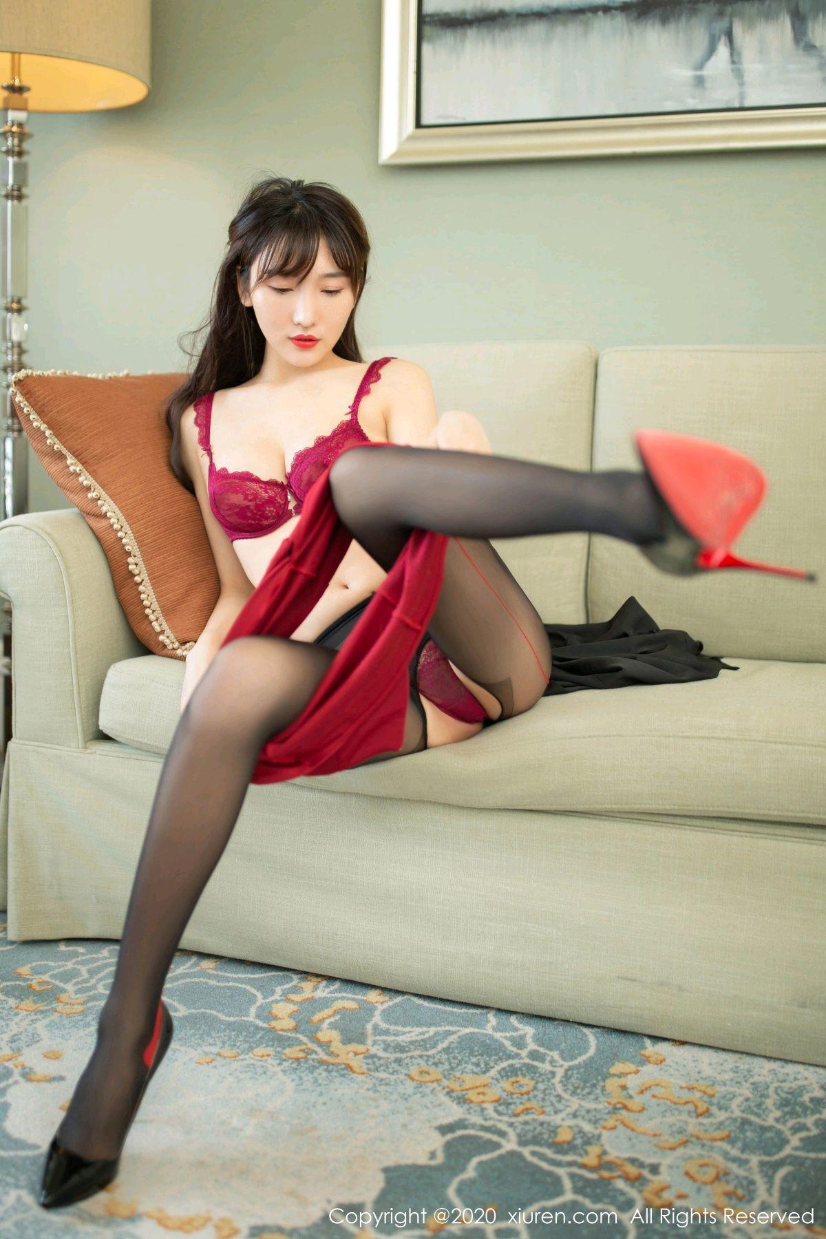 [XiuRen] Vol.2498 Lu Xuan Xuan 47P, Black Silk, Lu Xuan Xuan, Tall, Underwear, Xiuren