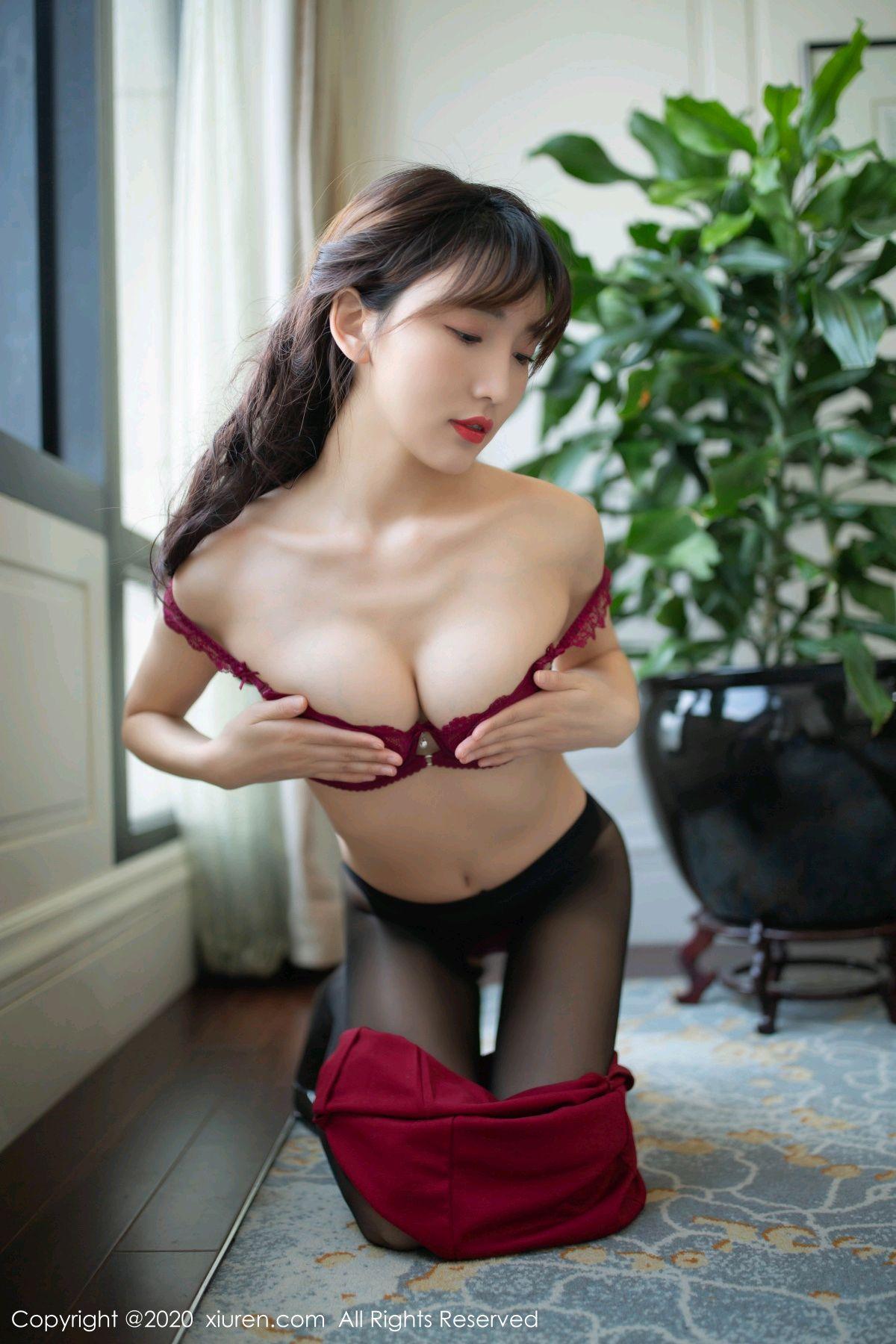[XiuRen] Vol.2498 Lu Xuan Xuan 56P, Black Silk, Lu Xuan Xuan, Tall, Underwear, Xiuren