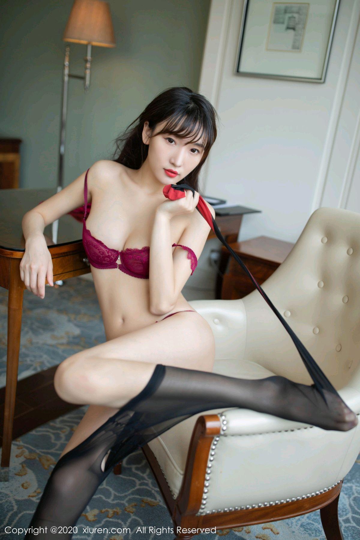 [XiuRen] Vol.2498 Lu Xuan Xuan 77P, Black Silk, Lu Xuan Xuan, Tall, Underwear, Xiuren