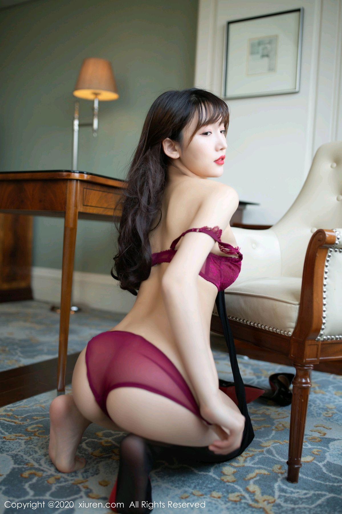 [XiuRen] Vol.2498 Lu Xuan Xuan 80P, Black Silk, Lu Xuan Xuan, Tall, Underwear, Xiuren