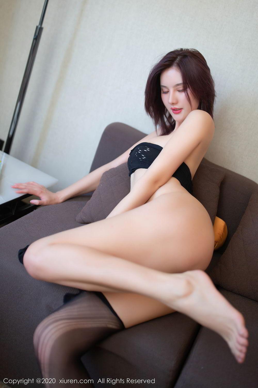 [XiuRen] Vol.2501 Jiu Shi A Zhu 41P, Black Silk, Jiu Shi A Zhu, Slim, Tall, Xiuren