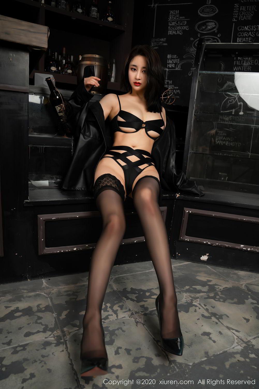 [XiuRen] Vol.2503 Lin Zi Xin 10P, Black Silk, Cool, Lin Zi Xin, Underwear, Xiuren