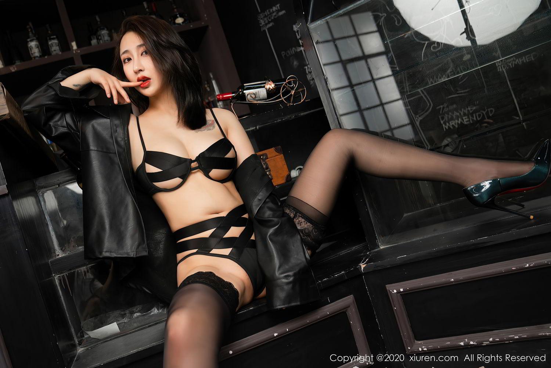 [XiuRen] Vol.2503 Lin Zi Xin 11P, Black Silk, Cool, Lin Zi Xin, Underwear, Xiuren