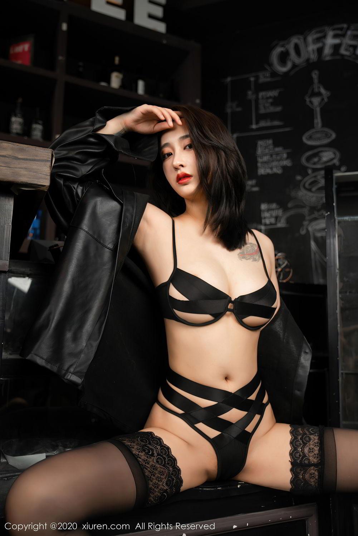 [XiuRen] Vol.2503 Lin Zi Xin 13P, Black Silk, Cool, Lin Zi Xin, Underwear, Xiuren