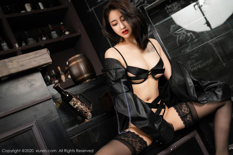[XiuRen] Vol.2503 Lin Zi Xin 14P, Black Silk, Cool, Lin Zi Xin, Underwear, Xiuren