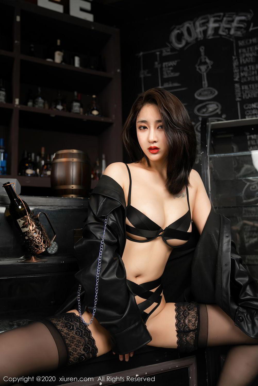 [XiuRen] Vol.2503 Lin Zi Xin 17P, Black Silk, Cool, Lin Zi Xin, Underwear, Xiuren