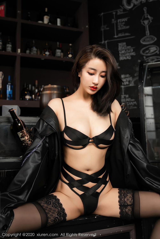 [XiuRen] Vol.2503 Lin Zi Xin 19P, Black Silk, Cool, Lin Zi Xin, Underwear, Xiuren