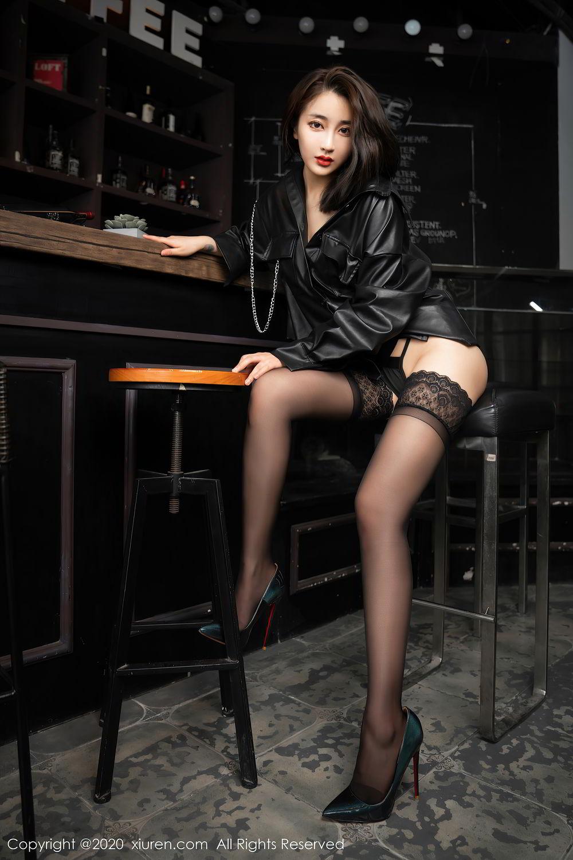 [XiuRen] Vol.2503 Lin Zi Xin 20P, Black Silk, Cool, Lin Zi Xin, Underwear, Xiuren