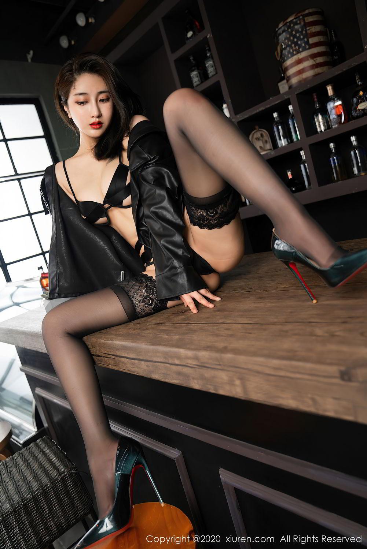 [XiuRen] Vol.2503 Lin Zi Xin 27P, Black Silk, Cool, Lin Zi Xin, Underwear, Xiuren