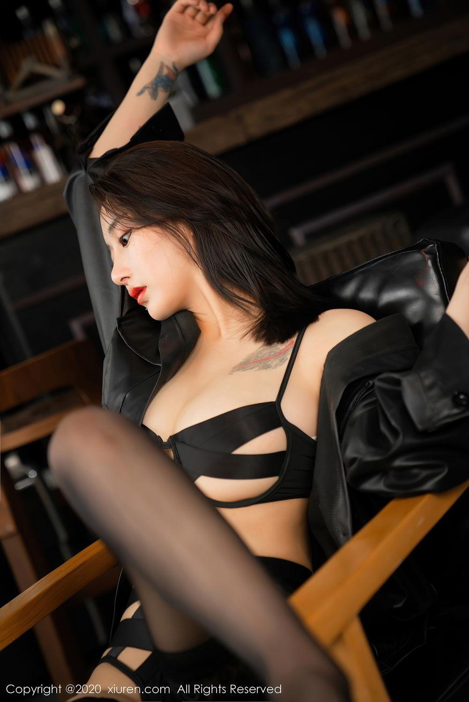 [XiuRen] Vol.2503 Lin Zi Xin 33P, Black Silk, Cool, Lin Zi Xin, Underwear, Xiuren
