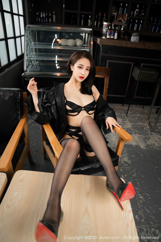 [XiuRen] Vol.2503 Lin Zi Xin 36P, Black Silk, Cool, Lin Zi Xin, Underwear, Xiuren