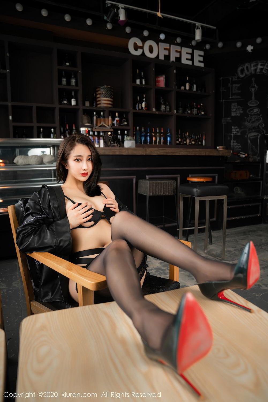 [XiuRen] Vol.2503 Lin Zi Xin 37P, Black Silk, Cool, Lin Zi Xin, Underwear, Xiuren