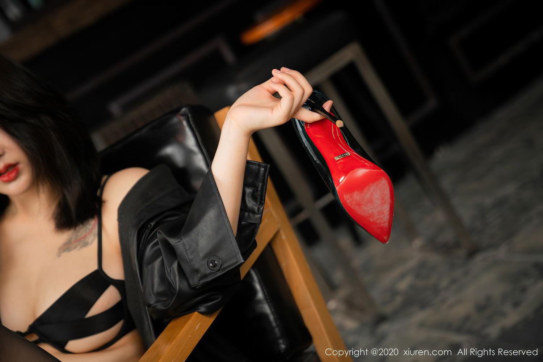 [XiuRen] Vol.2503 Lin Zi Xin 44P, Black Silk, Cool, Lin Zi Xin, Underwear, Xiuren