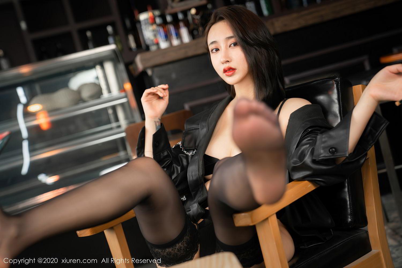 [XiuRen] Vol.2503 Lin Zi Xin 45P, Black Silk, Cool, Lin Zi Xin, Underwear, Xiuren