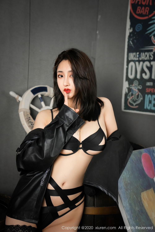 [XiuRen] Vol.2503 Lin Zi Xin 46P, Black Silk, Cool, Lin Zi Xin, Underwear, Xiuren