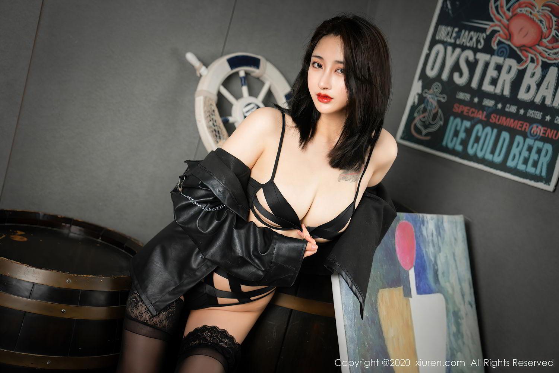 [XiuRen] Vol.2503 Lin Zi Xin 49P, Black Silk, Cool, Lin Zi Xin, Underwear, Xiuren