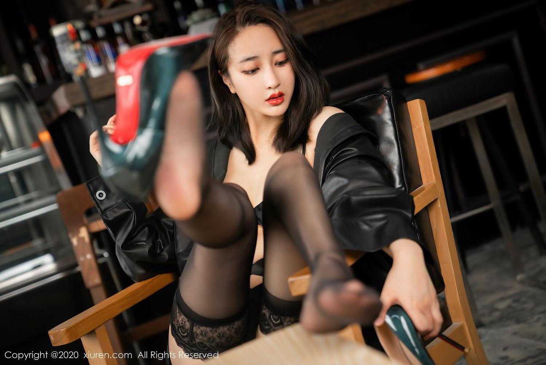 [XiuRen] Vol.2503 Lin Zi Xin 5P, Black Silk, Cool, Lin Zi Xin, Underwear, Xiuren