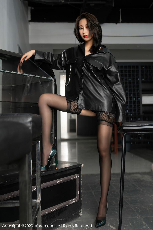 [XiuRen] Vol.2503 Lin Zi Xin 6P, Black Silk, Cool, Lin Zi Xin, Underwear, Xiuren