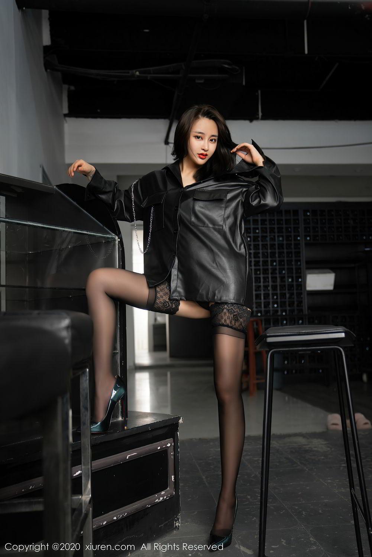 [XiuRen] Vol.2503 Lin Zi Xin 9P, Black Silk, Cool, Lin Zi Xin, Underwear, Xiuren
