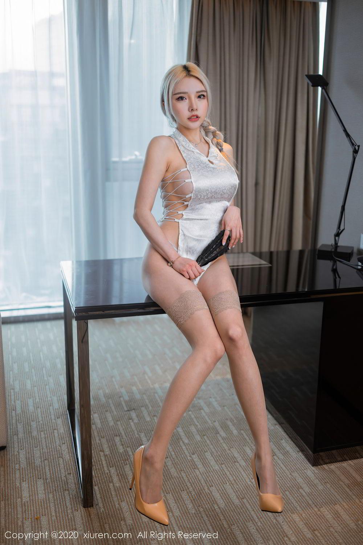 [XiuRen] Vol.2504 Miao Miao Xiao Jie Jie 25P, Cheongsam, Tall, Wang Zhao Lu, Xiuren