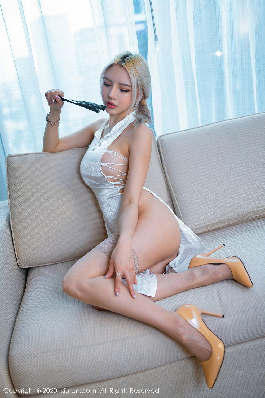 [XiuRen] Vol.2504 Miao Miao Xiao Jie Jie 33P, Cheongsam, Tall, Wang Zhao Lu, Xiuren