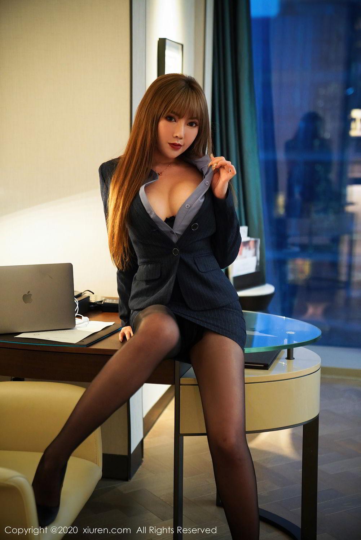 [XiuRen] Vol.2511 Meng Han Yao 11P, Black Silk, Meng Han Yao, Uniform, Xiuren