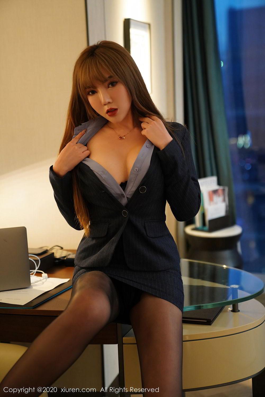 [XiuRen] Vol.2511 Meng Han Yao 13P, Black Silk, Meng Han Yao, Uniform, Xiuren