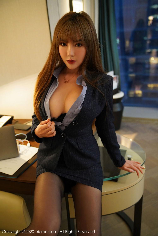 [XiuRen] Vol.2511 Meng Han Yao 14P, Black Silk, Meng Han Yao, Uniform, Xiuren