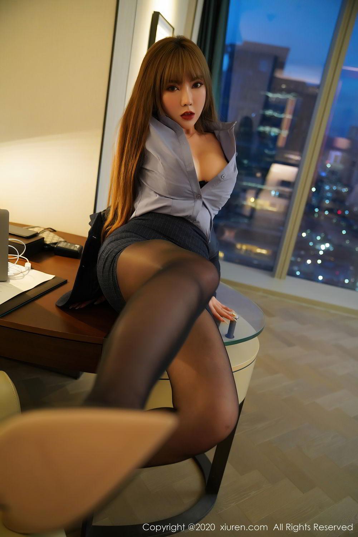 [XiuRen] Vol.2511 Meng Han Yao 21P, Black Silk, Meng Han Yao, Uniform, Xiuren