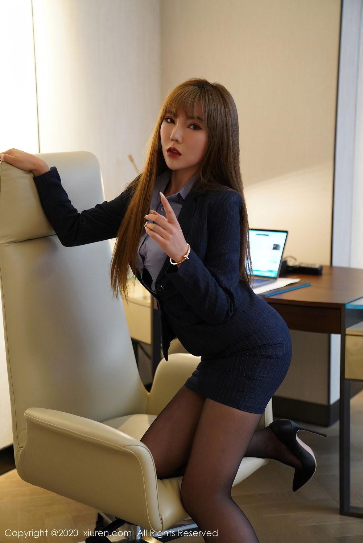 [XiuRen] Vol.2511 Meng Han Yao 4P, Black Silk, Meng Han Yao, Uniform, Xiuren