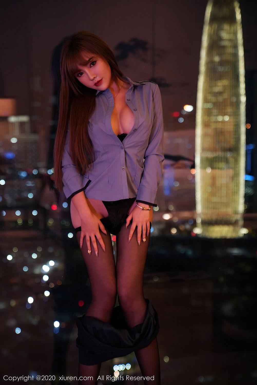 [XiuRen] Vol.2511 Meng Han Yao 51P, Black Silk, Meng Han Yao, Uniform, Xiuren