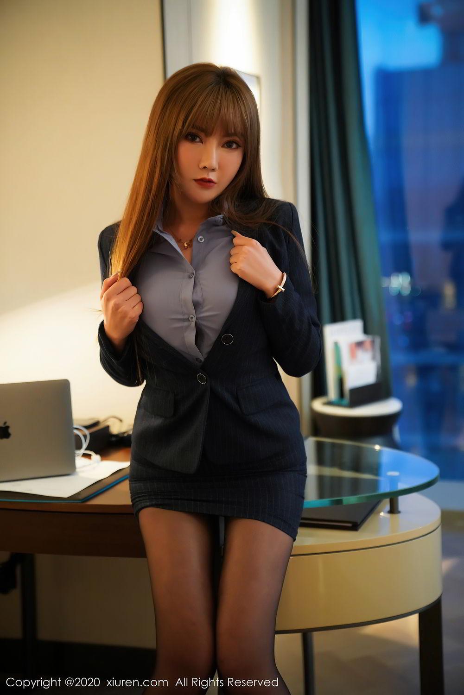 [XiuRen] Vol.2511 Meng Han Yao 8P, Black Silk, Meng Han Yao, Uniform, Xiuren