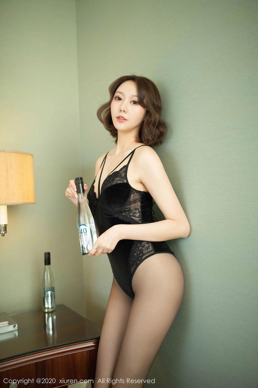 [XiuRen] Vol.2513 Yi Xuan 1P, Black Silk, Fu Yi Xuan, Tall, Temperament, Xiuren