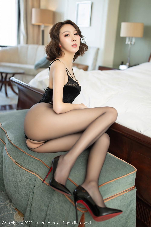 [XiuRen] Vol.2513 Yi Xuan 25P, Black Silk, Fu Yi Xuan, Tall, Temperament, Xiuren