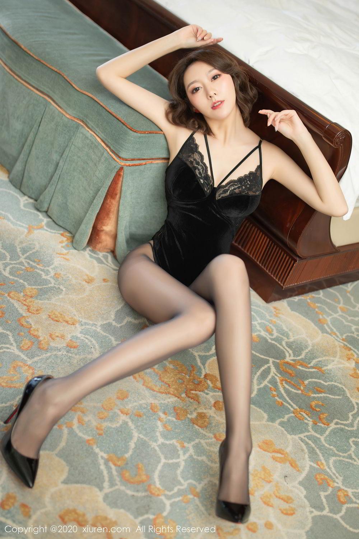 [XiuRen] Vol.2513 Yi Xuan 28P, Black Silk, Fu Yi Xuan, Tall, Temperament, Xiuren