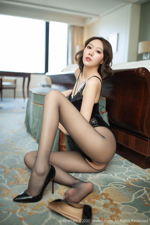 [XiuRen] Vol.2513 Yi Xuan 31P, Black Silk, Fu Yi Xuan, Tall, Temperament, Xiuren