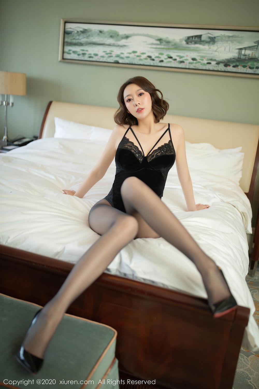 [XiuRen] Vol.2513 Yi Xuan 35P, Black Silk, Fu Yi Xuan, Tall, Temperament, Xiuren
