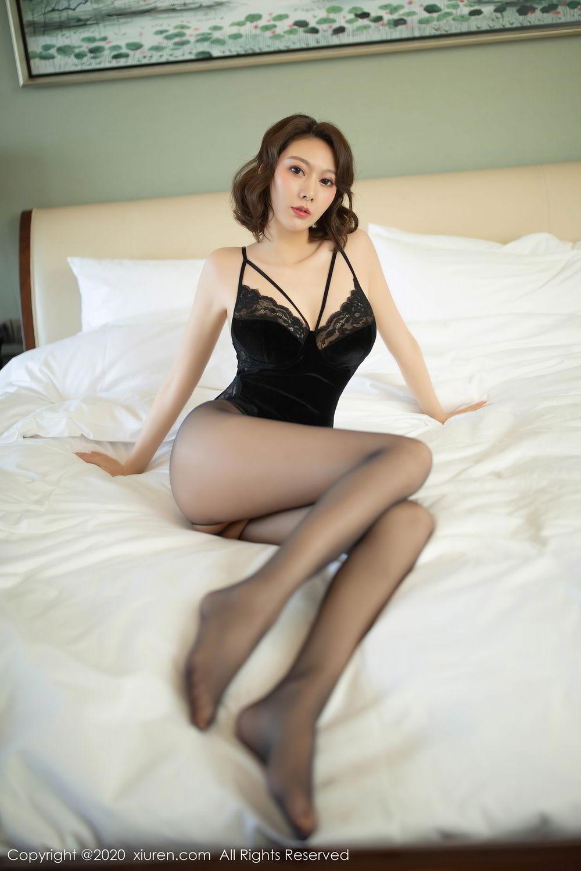 [XiuRen] Vol.2513 Yi Xuan 46P, Black Silk, Fu Yi Xuan, Tall, Temperament, Xiuren