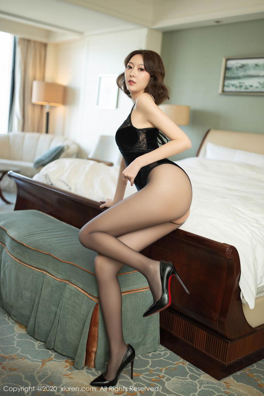[XiuRen] Vol.2513 Yi Xuan 4P, Black Silk, Fu Yi Xuan, Tall, Temperament, Xiuren