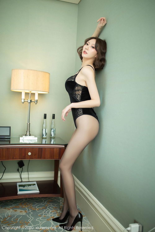 [XiuRen] Vol.2513 Yi Xuan 56P, Black Silk, Fu Yi Xuan, Tall, Temperament, Xiuren