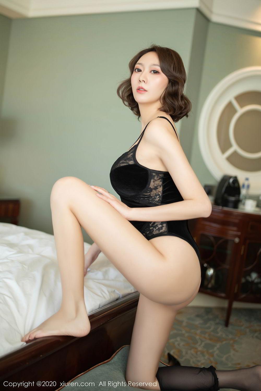 [XiuRen] Vol.2513 Yi Xuan 60P, Black Silk, Fu Yi Xuan, Tall, Temperament, Xiuren