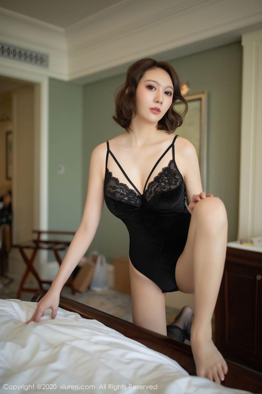 [XiuRen] Vol.2513 Yi Xuan 61P, Black Silk, Fu Yi Xuan, Tall, Temperament, Xiuren