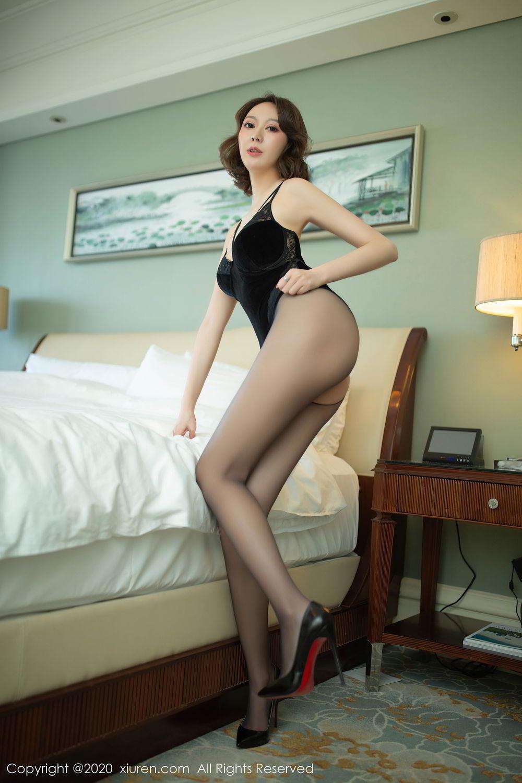 [XiuRen] Vol.2513 Yi Xuan 68P, Black Silk, Fu Yi Xuan, Tall, Temperament, Xiuren