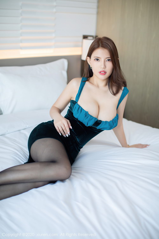 [XiuRen] Vol.2515 Xi Bao Er 10P, Black Silk, Sheng Ru Xia Hua, Underwear, Xiuren