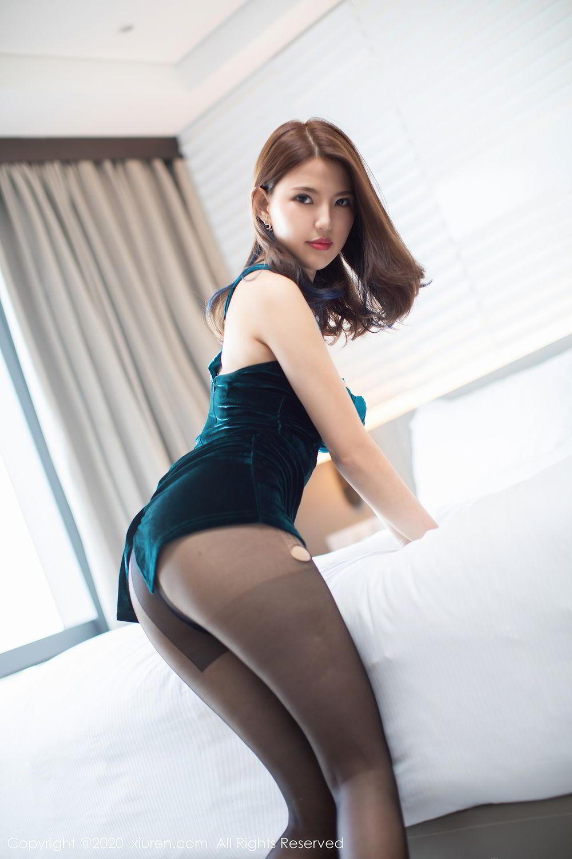 [XiuRen] Vol.2515 Xi Bao Er 17P, Black Silk, Sheng Ru Xia Hua, Underwear, Xiuren