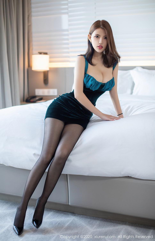 [XiuRen] Vol.2515 Xi Bao Er 1P, Black Silk, Sheng Ru Xia Hua, Underwear, Xiuren