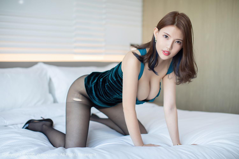 [XiuRen] Vol.2515 Xi Bao Er 20P, Black Silk, Sheng Ru Xia Hua, Underwear, Xiuren