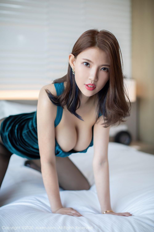 [XiuRen] Vol.2515 Xi Bao Er 21P, Black Silk, Sheng Ru Xia Hua, Underwear, Xiuren